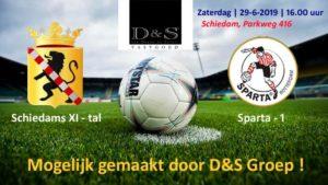 Schiedams XI-tal - Sparta Rotterdam @ Sportpark Thurlede